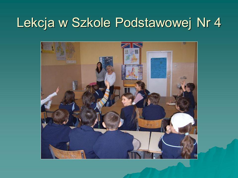 Lekcja w Szkole Podstawowej Nr 4