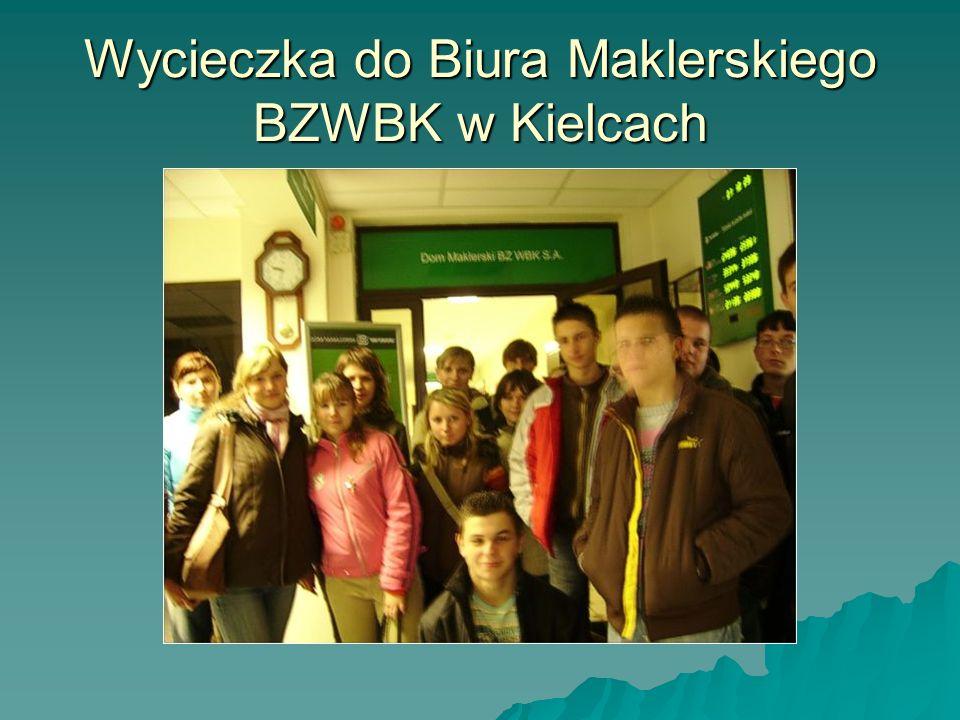 Wycieczka do Biura Maklerskiego BZWBK w Kielcach