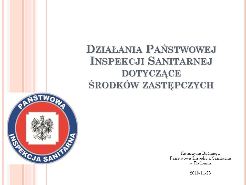 Katarzyna Baćmaga Państwowa Inspekcja Sanitarna w Radomiu 2015-11-23