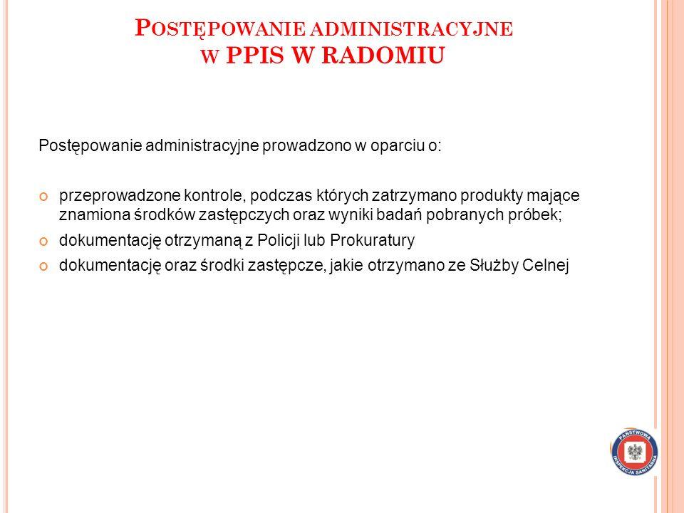 Postępowanie administracyjne w PPIS W RADOMIU