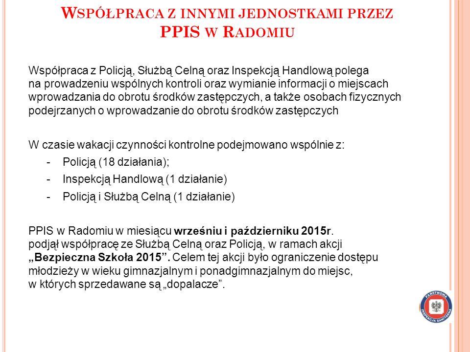Współpraca z innymi jednostkami przez PPIS w Radomiu