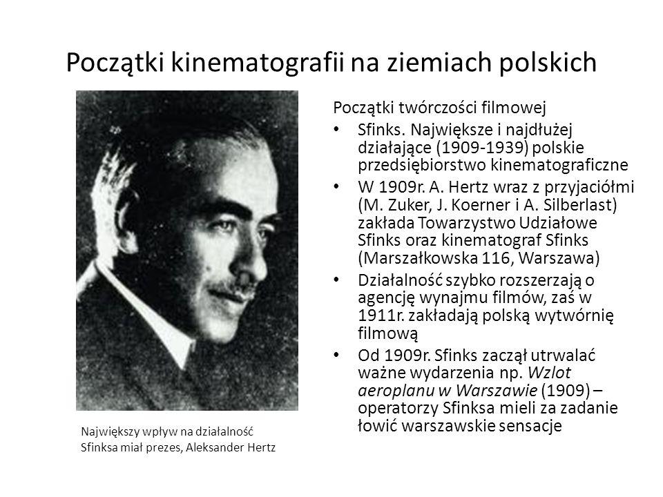 Początki kinematografii na ziemiach polskich
