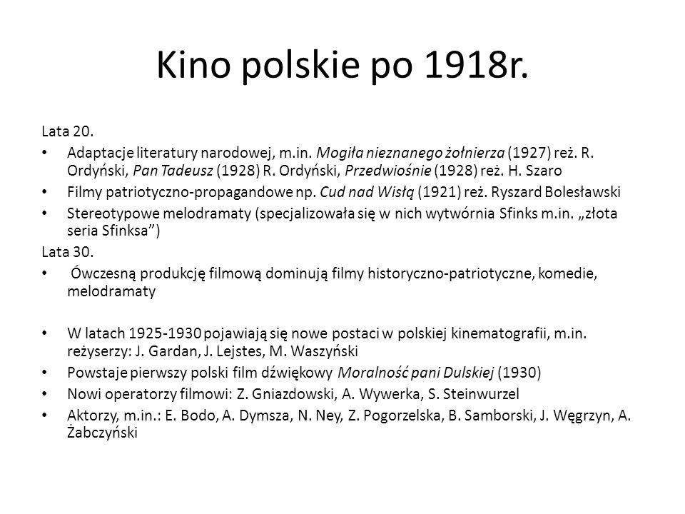Kino polskie po 1918r. Lata 20.