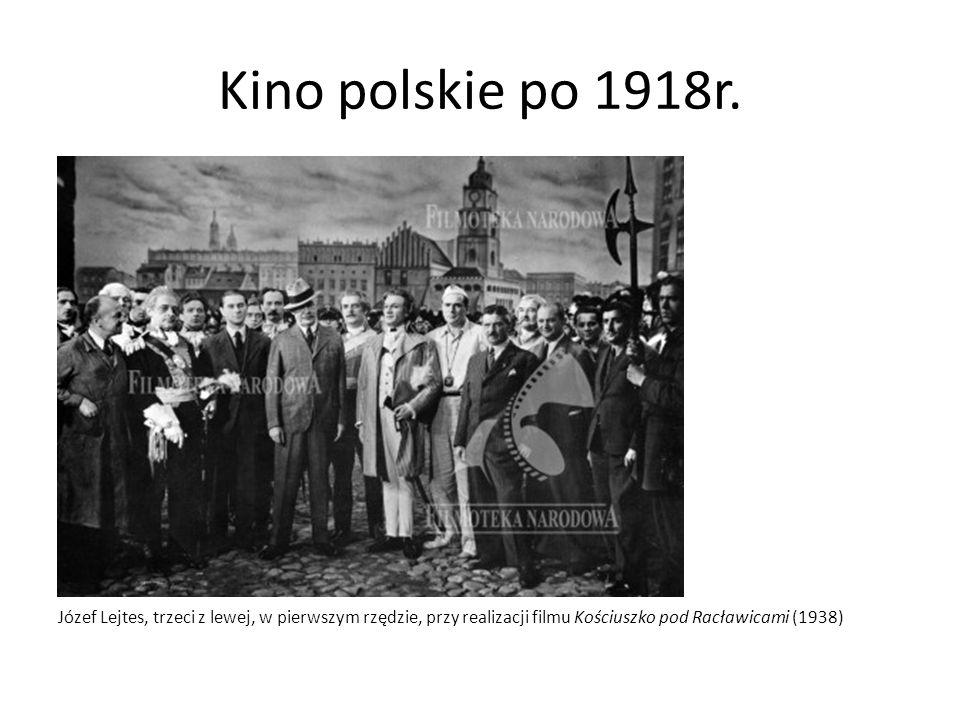 Kino polskie po 1918r. Na zdjęciu: Węgrzyn Józef (drugi z lewej, w mundurze), aktor.