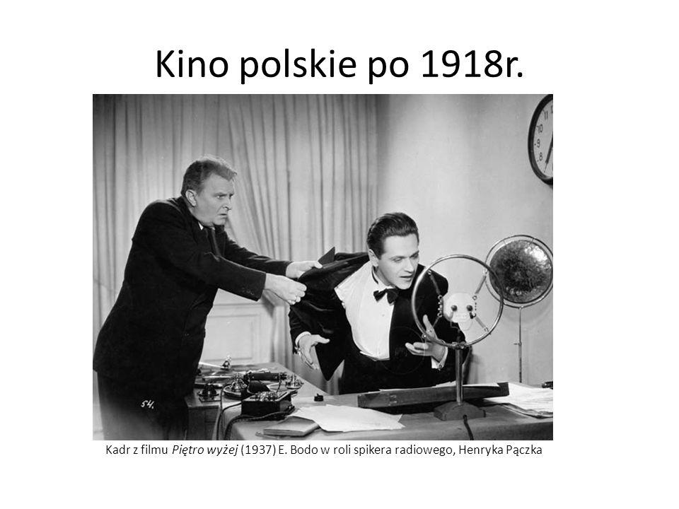 Kino polskie po 1918r. Kadr z filmu Piętro wyżej (1937) E.