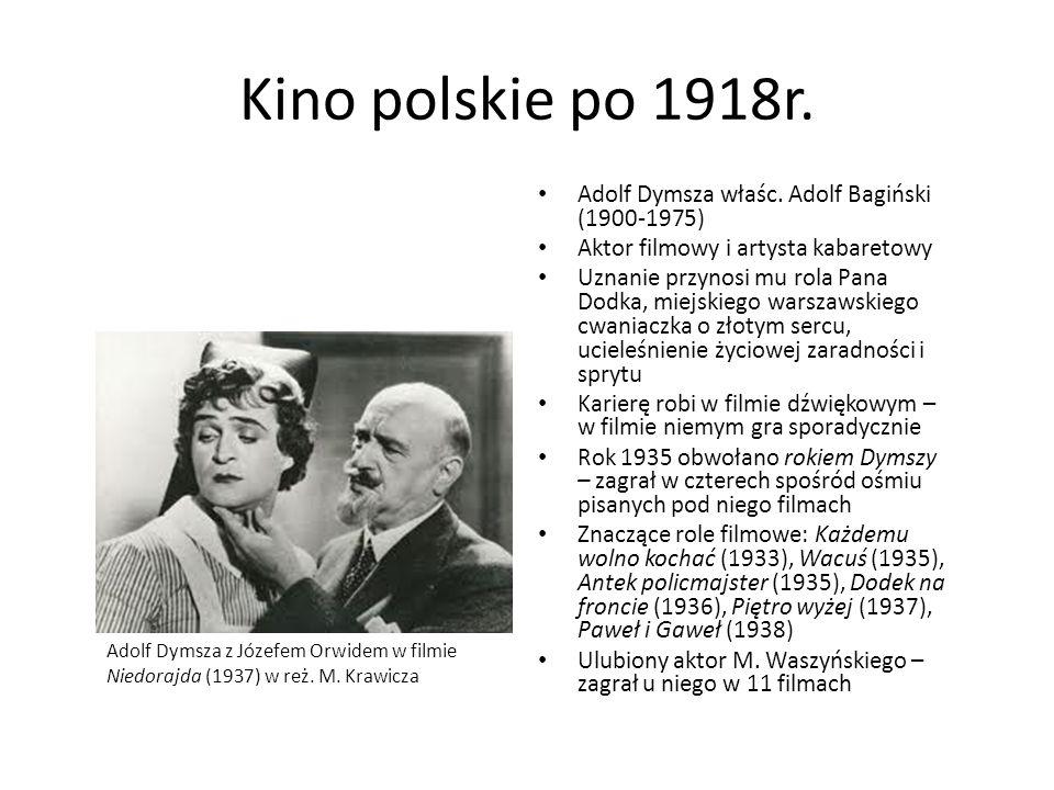Kino polskie po 1918r. Adolf Dymsza właśc. Adolf Bagiński (1900-1975)