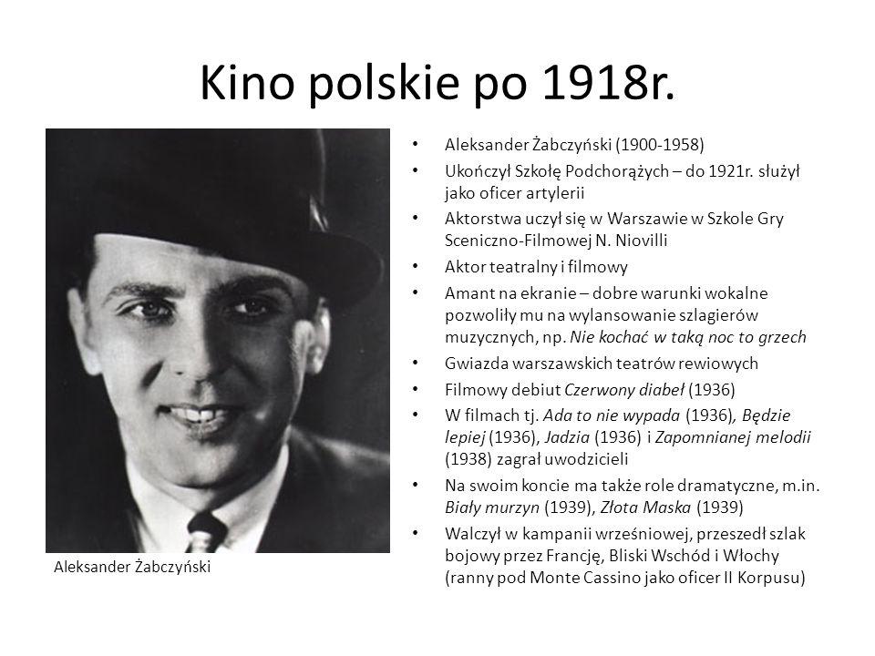 Kino polskie po 1918r. Aleksander Żabczyński (1900-1958)