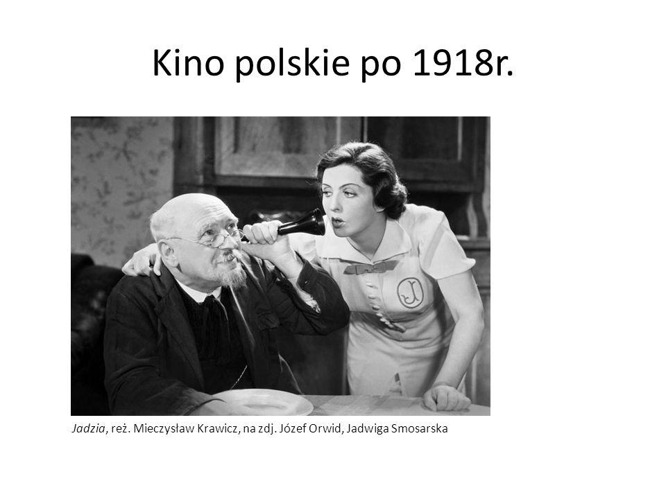 Kino polskie po 1918r. Jadzia, reż. Mieczysław Krawicz, na zdj. Józef Orwid, Jadwiga Smosarska
