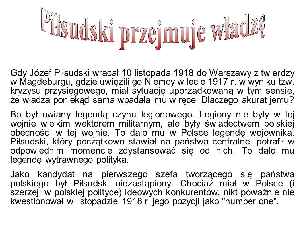 Piłsudski przejmuje władzę