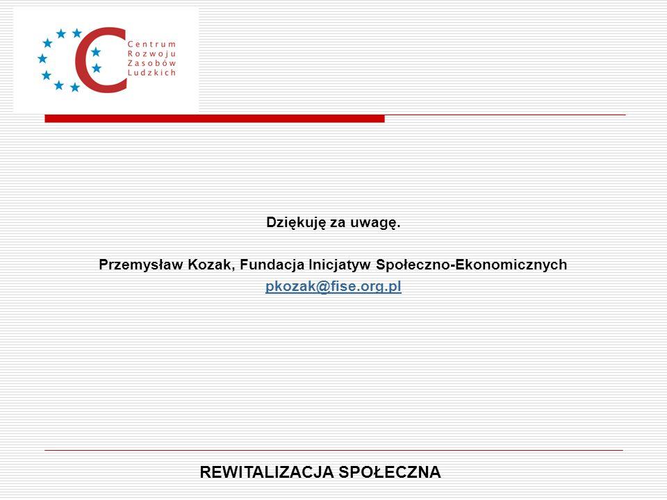 Przemysław Kozak, Fundacja Inicjatyw Społeczno-Ekonomicznych