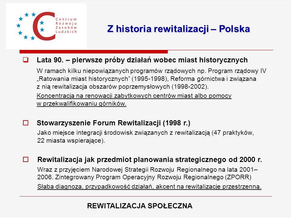 Z historia rewitalizacji – Polska