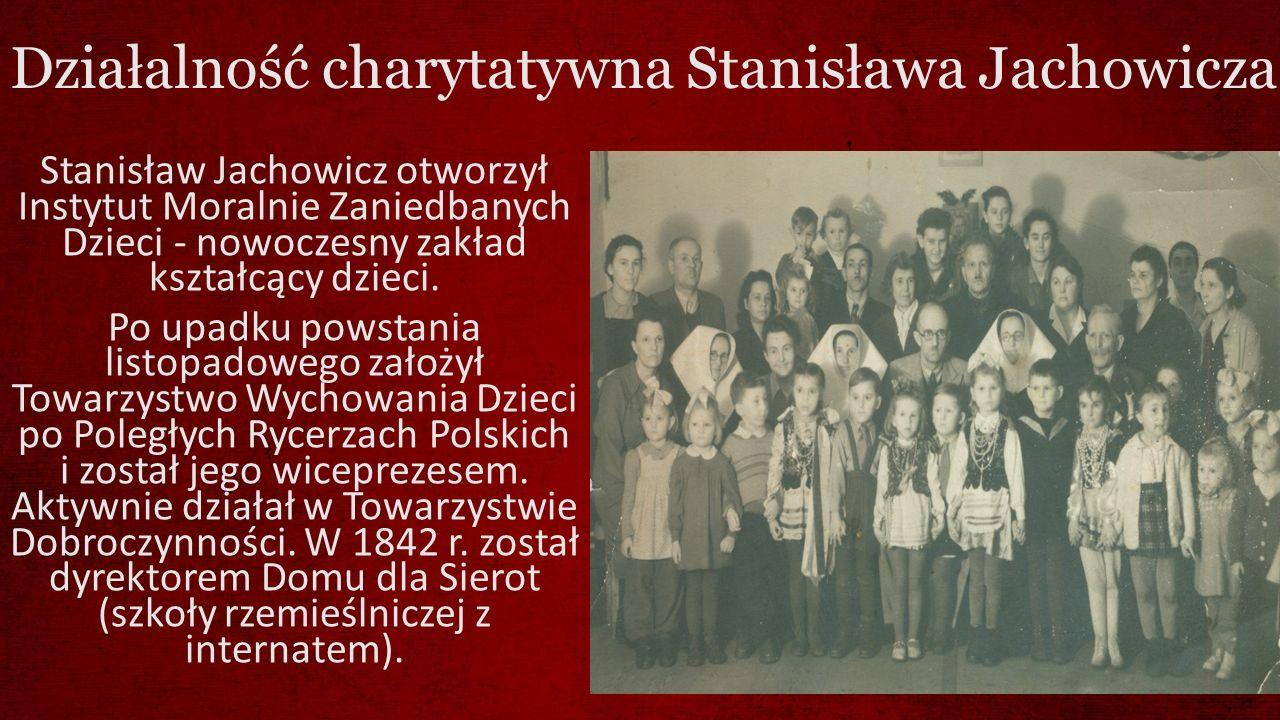 Działalność charytatywna Stanisława Jachowicza