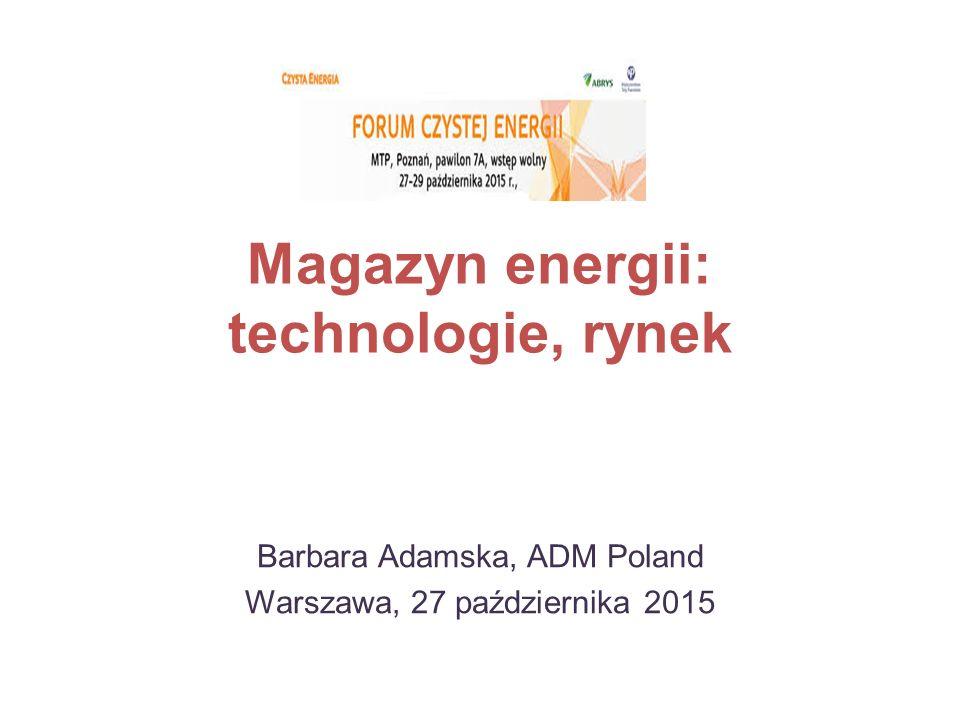 Magazyn energii: technologie, rynek