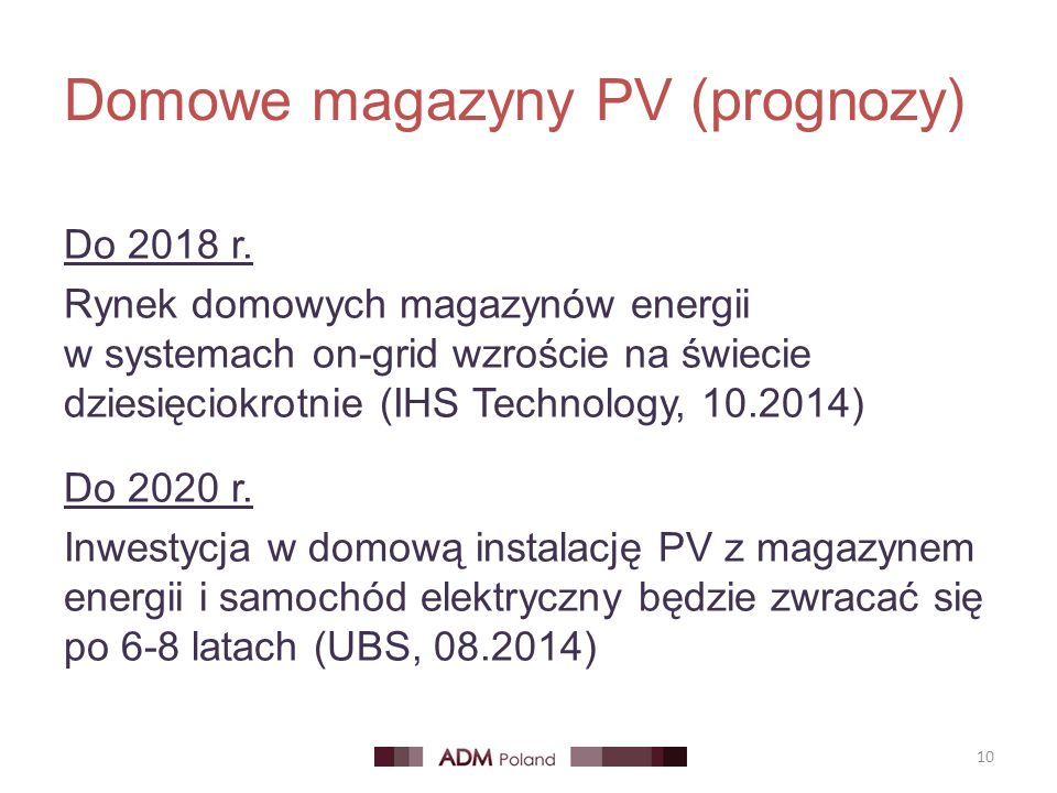 Domowe magazyny PV (prognozy)