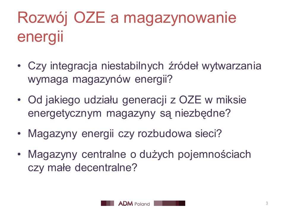 Rozwój OZE a magazynowanie energii