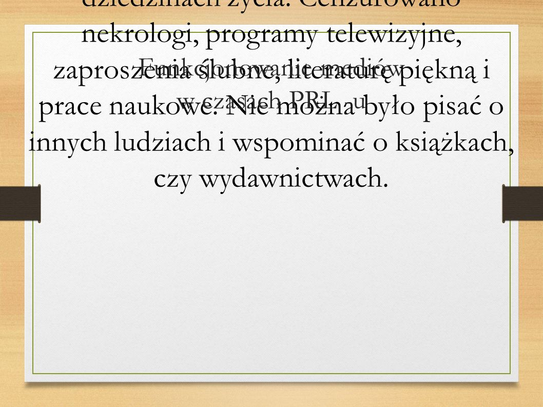 Funkcjonowanie mediów w czasach PRL -u