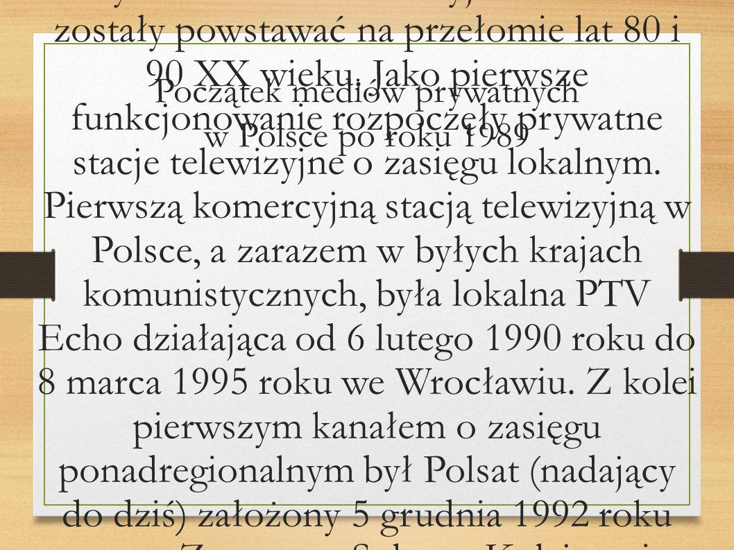 Początek mediów prywatnych w Polsce po roku 1989
