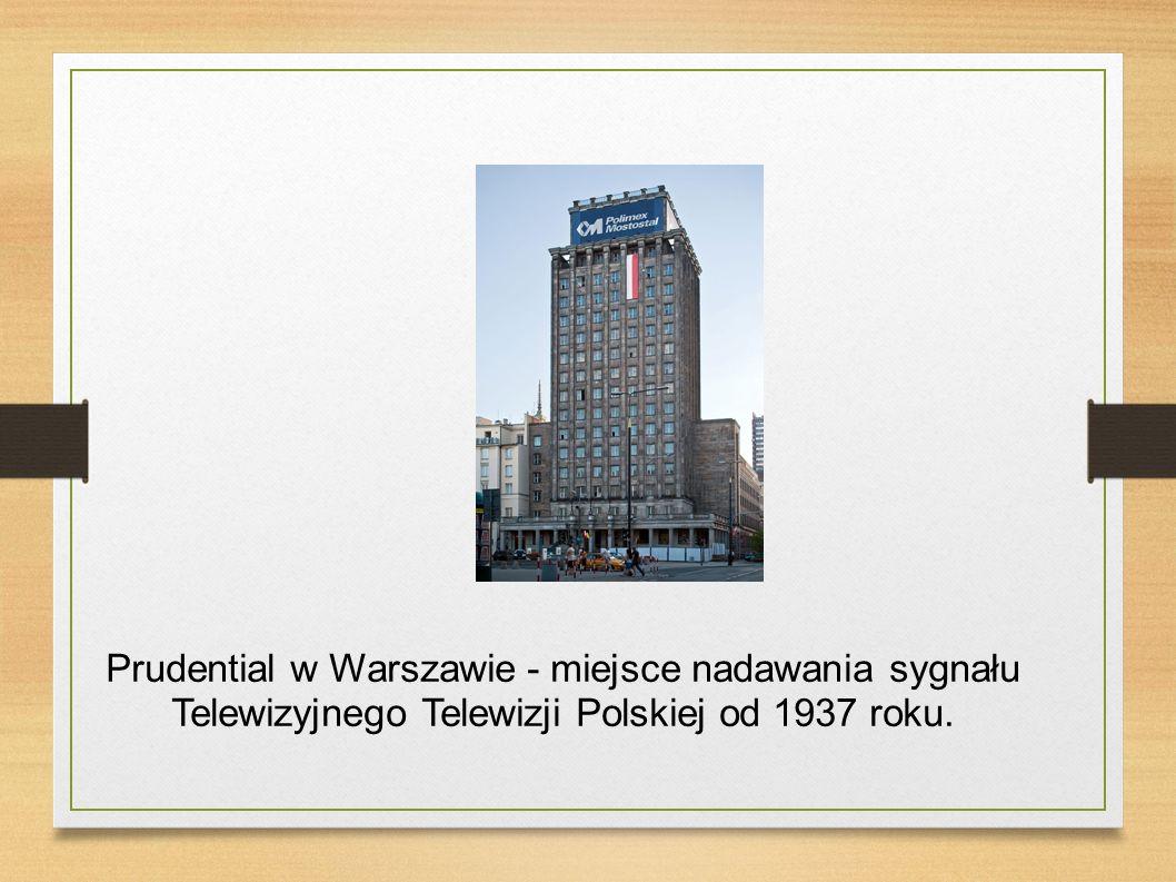 Prudential w Warszawie - miejsce nadawania sygnału Telewizyjnego Telewizji Polskiej od 1937 roku.