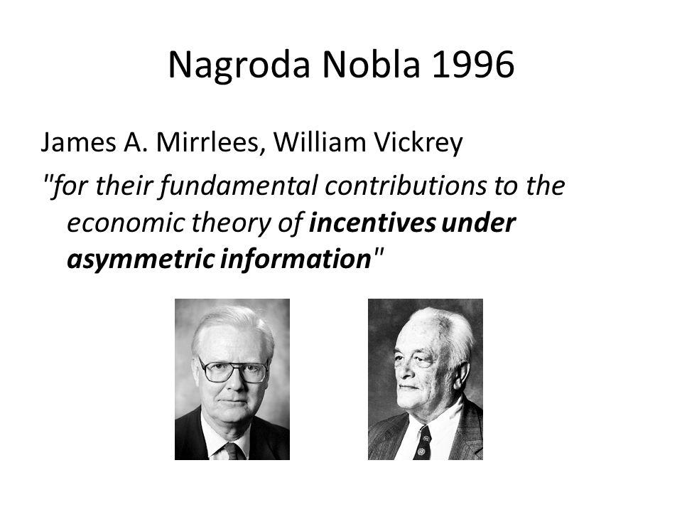 Nagroda Nobla 1996