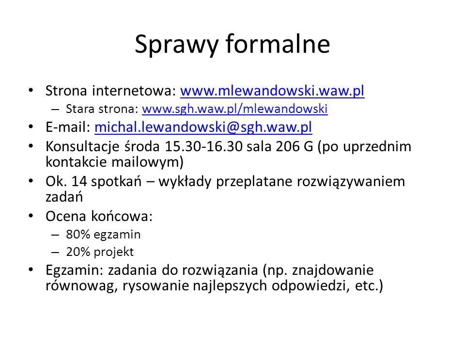 Sprawy formalne Strona internetowa: www.mlewandowski.waw.pl