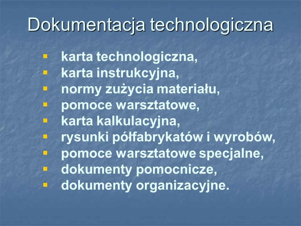 Dokumentacja technologiczna