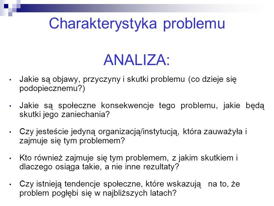 Charakterystyka problemu ANALIZA:
