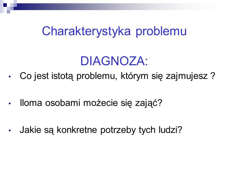 Charakterystyka problemu DIAGNOZA: