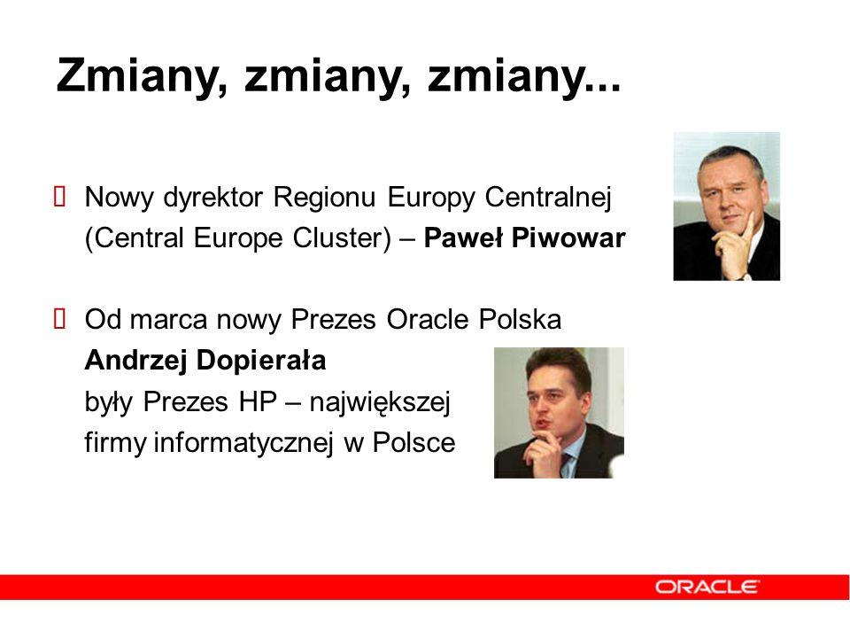 Zmiany, zmiany, zmiany... Nowy dyrektor Regionu Europy Centralnej