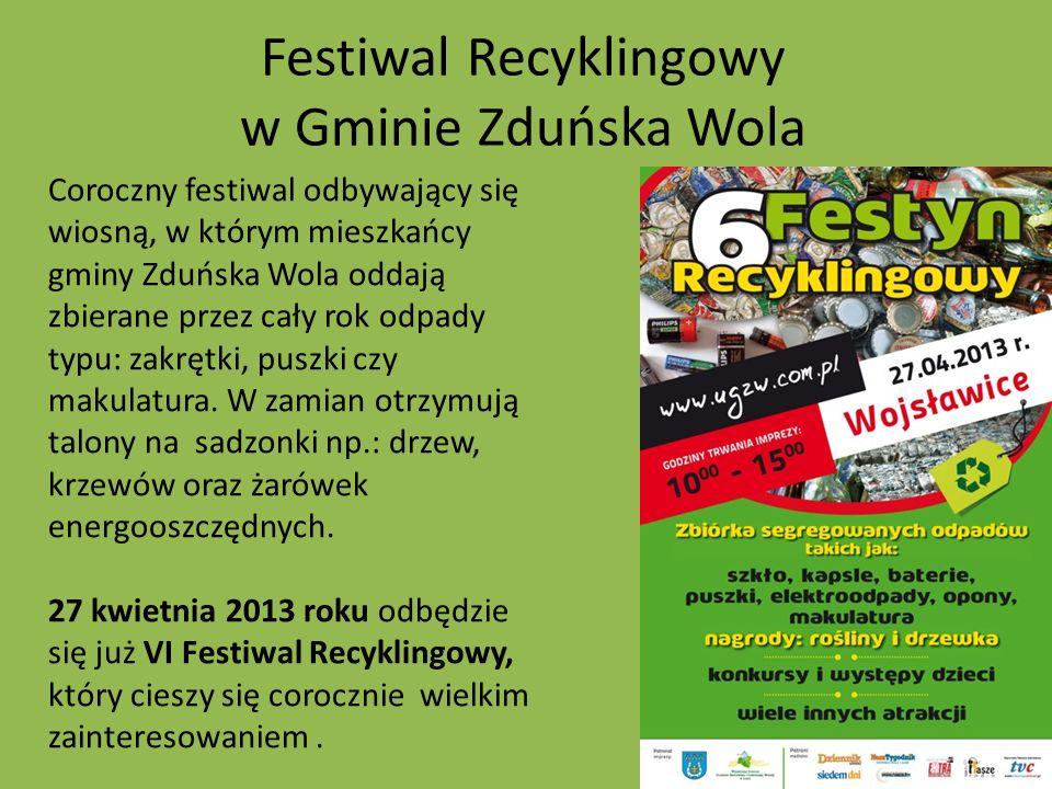 Festiwal Recyklingowy w Gminie Zduńska Wola