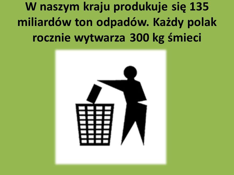 W naszym kraju produkuje się 135 miliardów ton odpadów