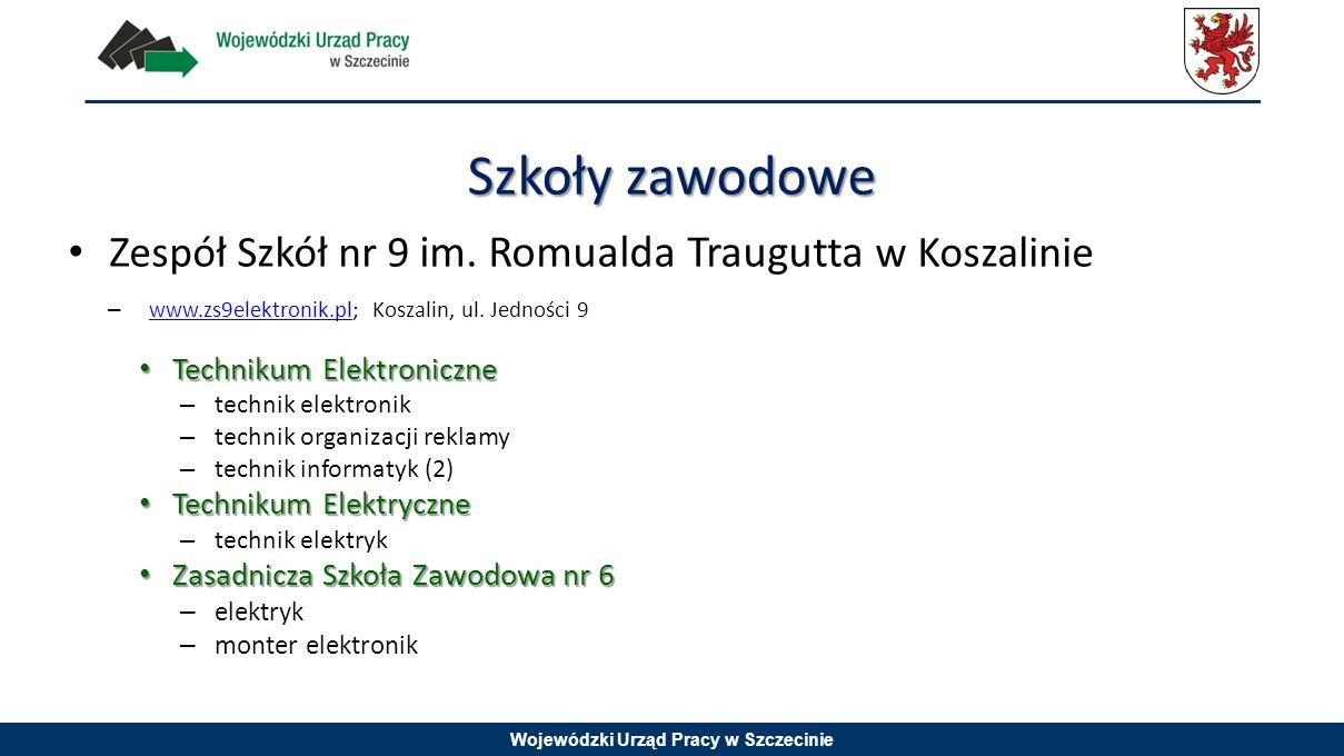 Szkoły zawodowe Zespół Szkół nr 9 im. Romualda Traugutta w Koszalinie