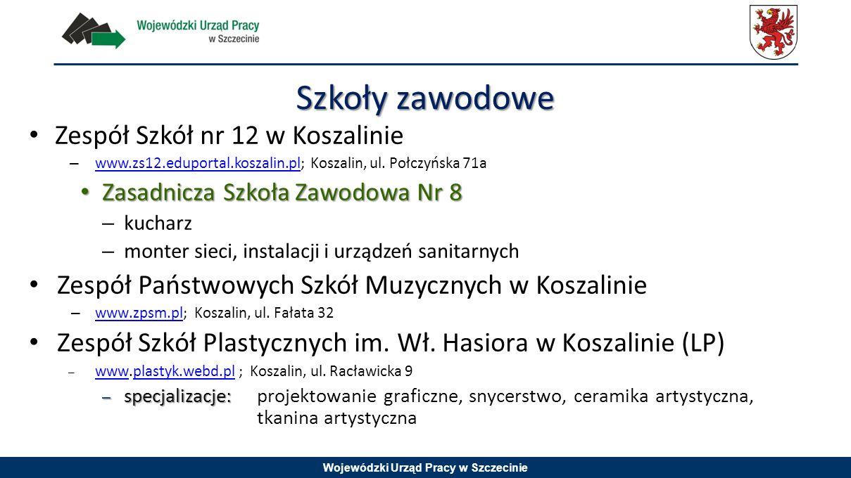 Szkoły zawodowe Zespół Szkół nr 12 w Koszalinie