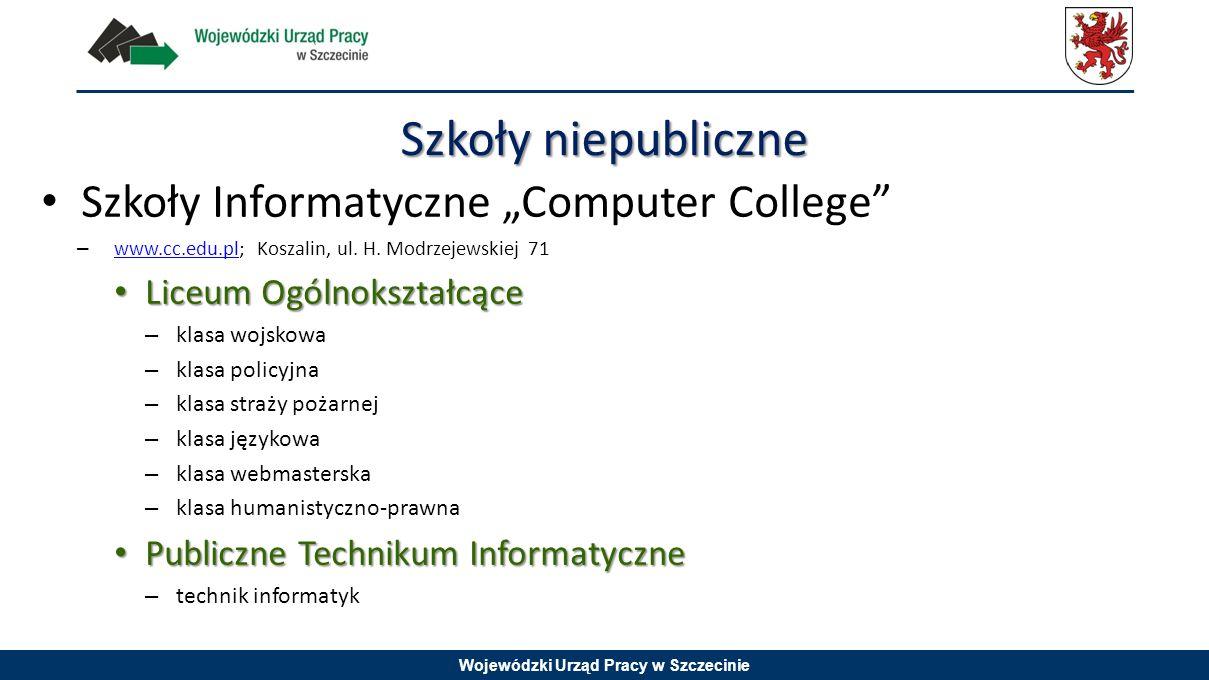 """Szkoły niepubliczne Szkoły Informatyczne """"Computer College"""
