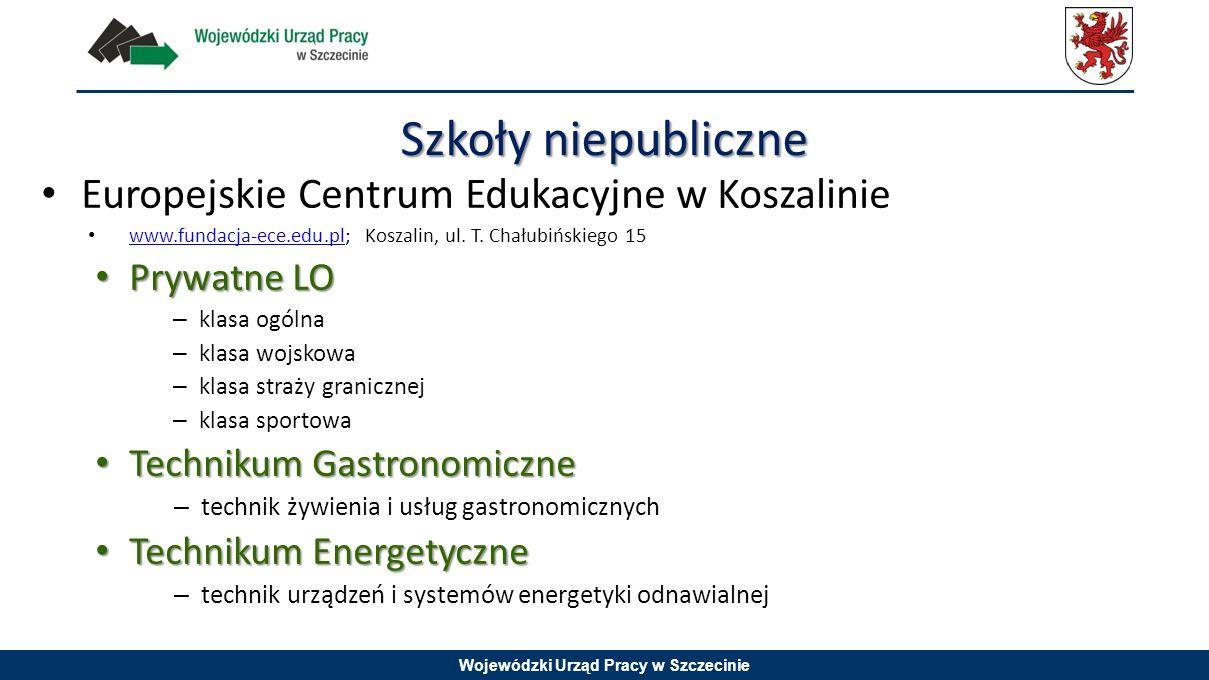 Szkoły niepubliczne Europejskie Centrum Edukacyjne w Koszalinie