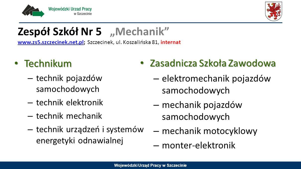 """Zespół Szkół Nr 5 """"Mechanik www. zs5. szczecinek. net"""