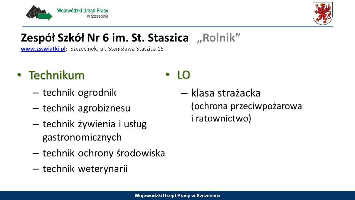"""Zespół Szkół Nr 6 im. St. Staszica """"Rolnik www. zsswiatki"""