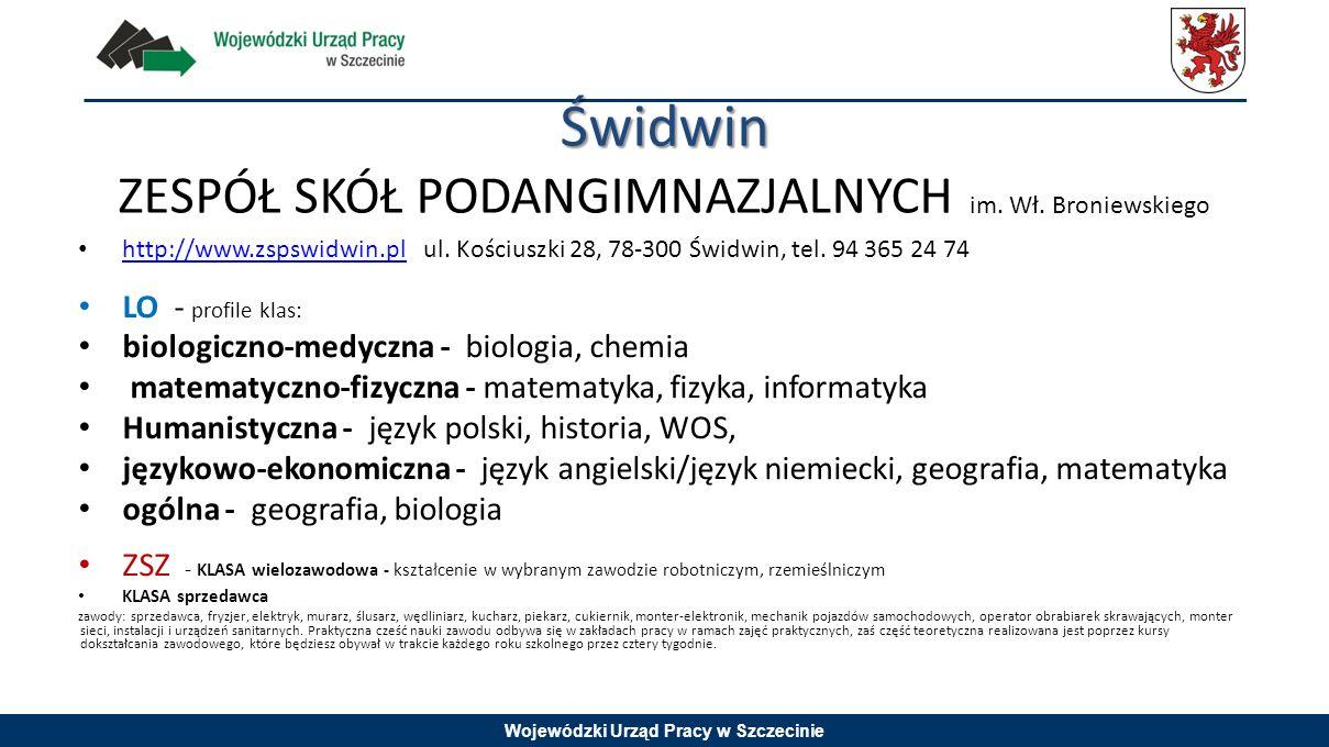 Świdwin ZESPÓŁ SKÓŁ PODANGIMNAZJALNYCH im. Wł. Broniewskiego