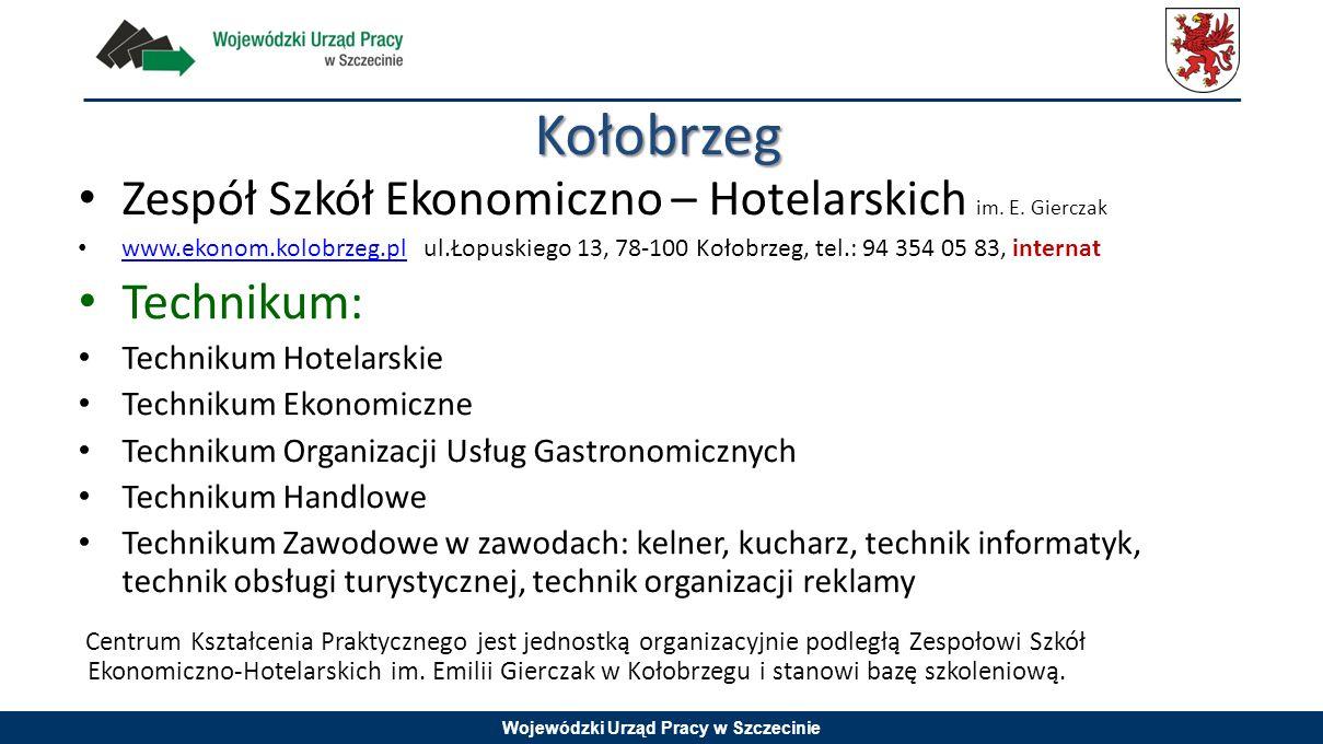 Kołobrzeg Zespół Szkół Ekonomiczno – Hotelarskich im. E. Gierczak.