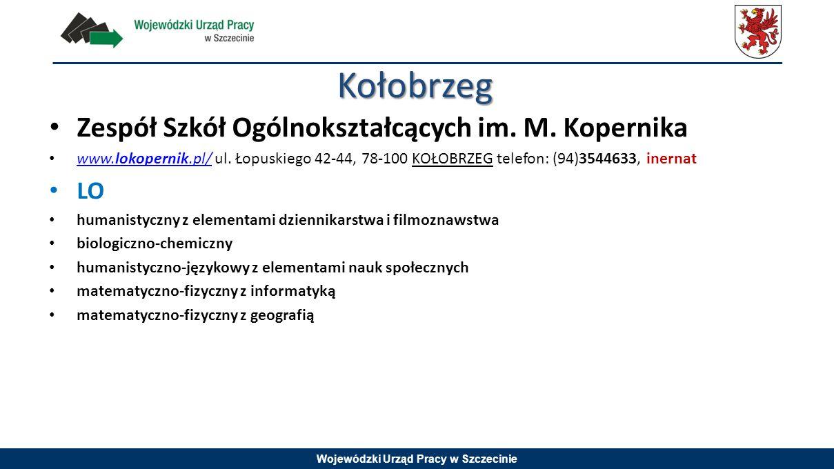 Kołobrzeg Zespół Szkół Ogólnokształcących im. M. Kopernika LO
