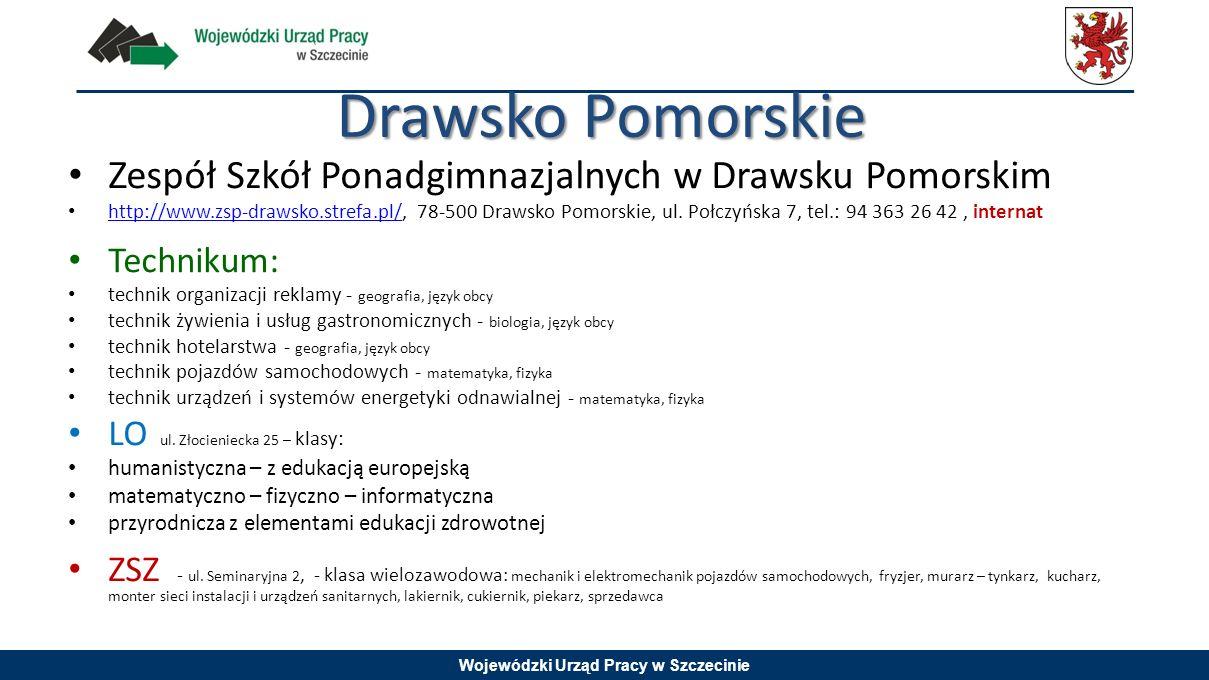 Drawsko Pomorskie Zespół Szkół Ponadgimnazjalnych w Drawsku Pomorskim