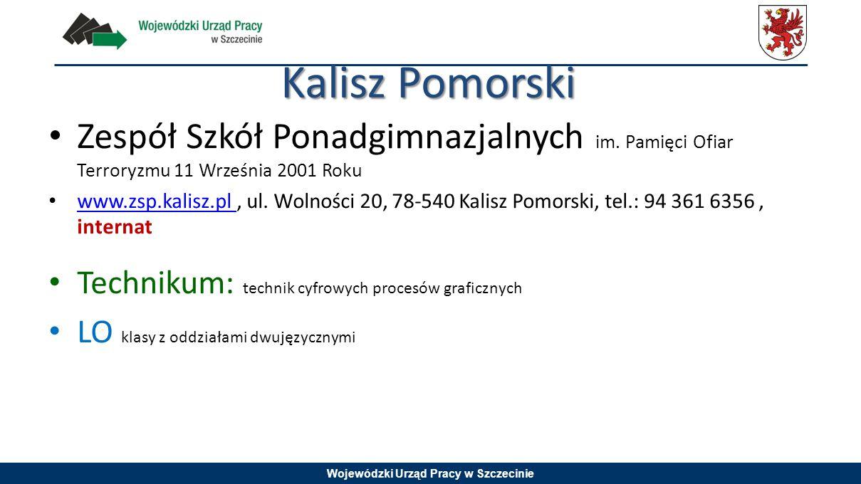 Kalisz Pomorski Zespół Szkół Ponadgimnazjalnych im. Pamięci Ofiar Terroryzmu 11 Września 2001 Roku.