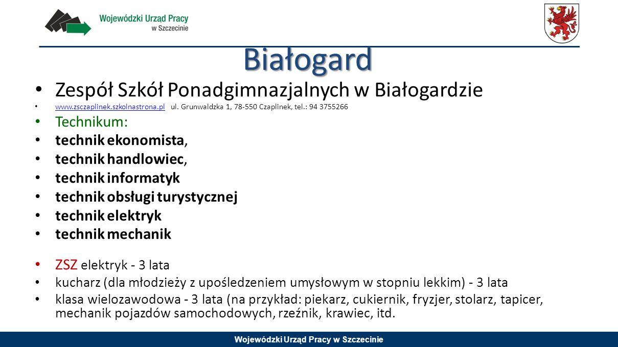 Białogard Zespół Szkół Ponadgimnazjalnych w Białogardzie Technikum: