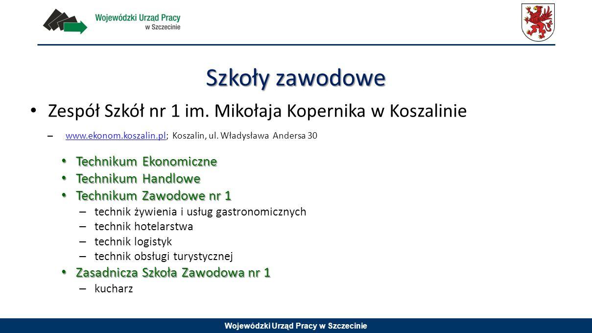 Szkoły zawodowe Zespół Szkół nr 1 im. Mikołaja Kopernika w Koszalinie