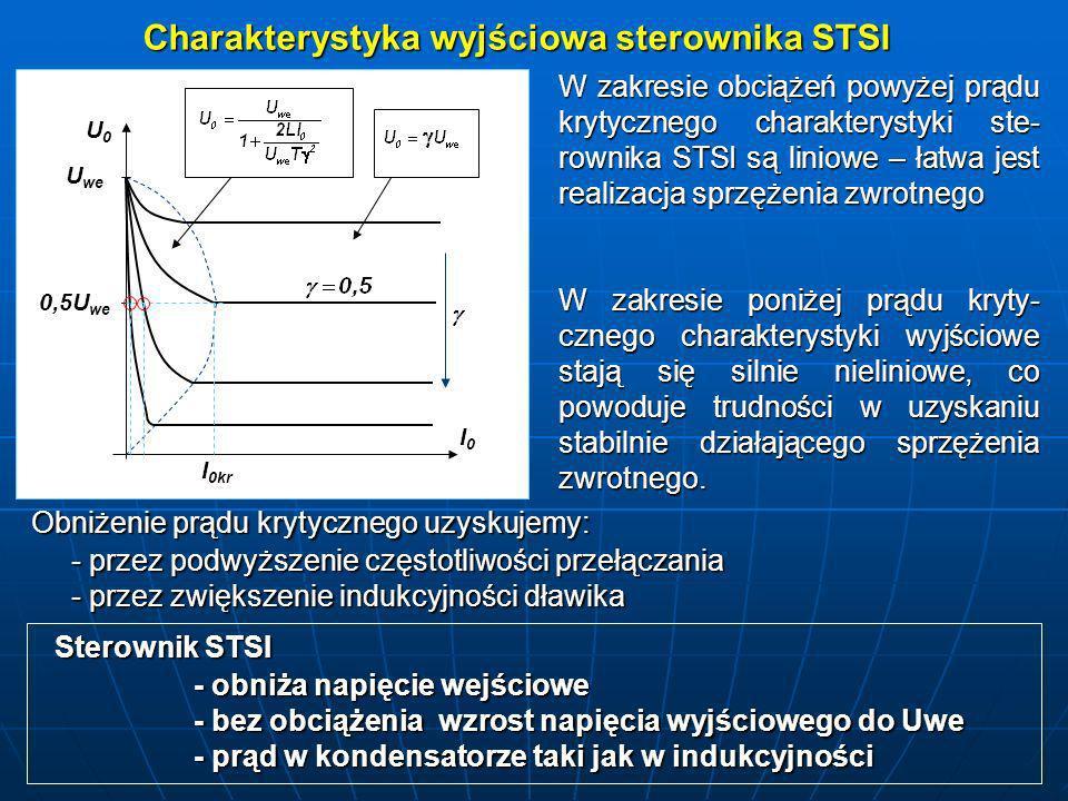 Charakterystyka wyjściowa sterownika STSI