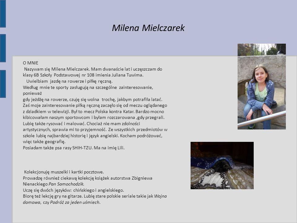 Milena Mielczarek O MNIE
