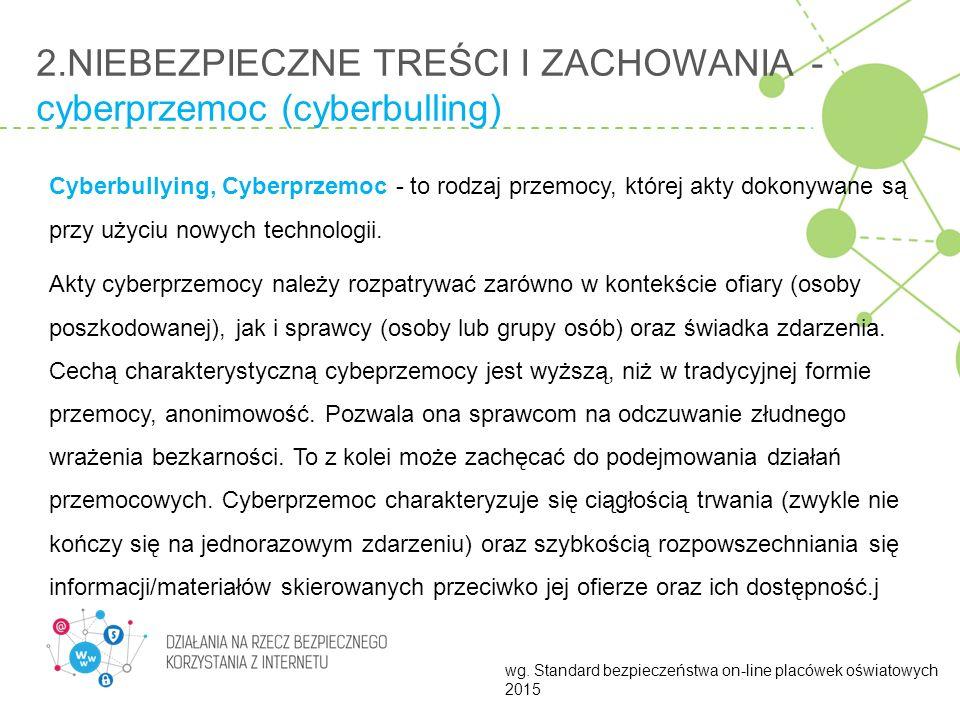 2.NIEBEZPIECZNE TREŚCI I ZACHOWANIA - cyberprzemoc (cyberbulling)