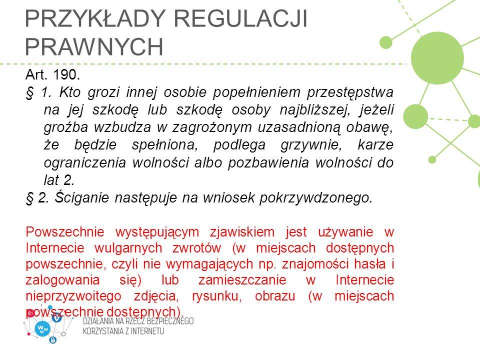 Przykłady regulacji prawnych