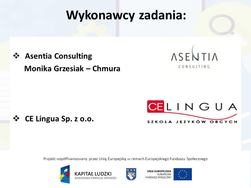 Asentia Consulting Monika Grzesiak – Chmura CE Lingua Sp. z o.o.