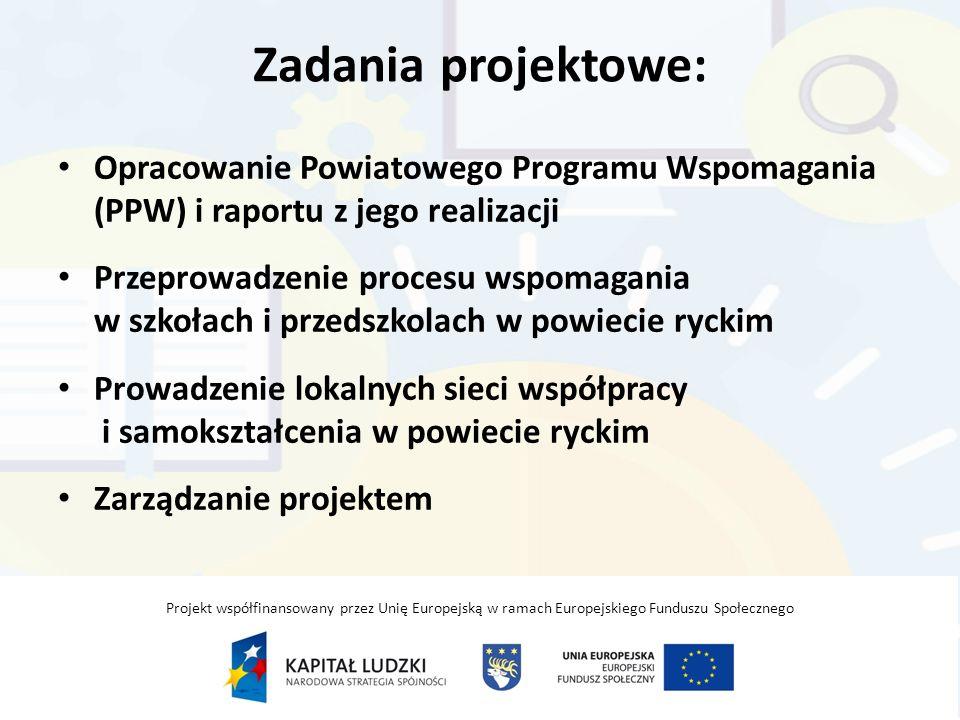 Zadania projektowe: Opracowanie Powiatowego Programu Wspomagania (PPW) i raportu z jego realizacji.