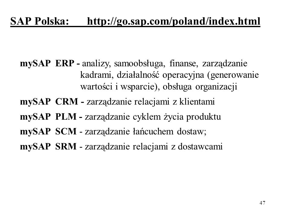 SAP Polska: http://go.sap.com/poland/index.html